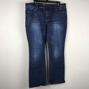 Old Navy Sweetheart Curvy Boot Cut Jeans Mid-Wash